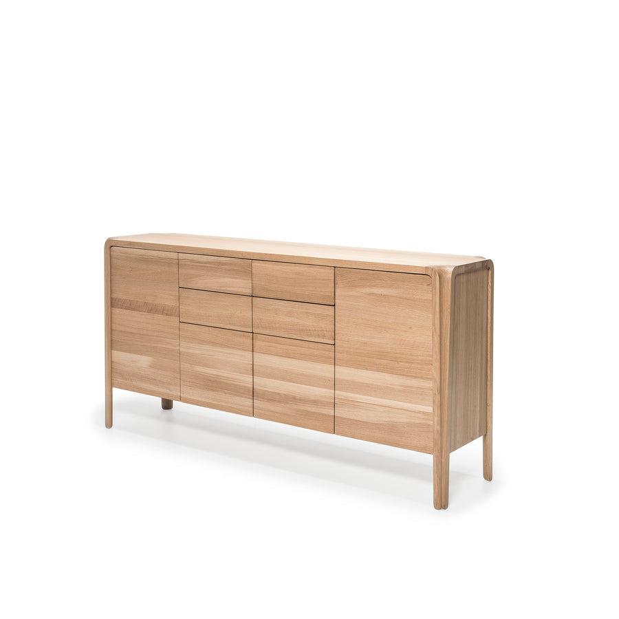 MS&Wood Primum Sideboard in solid Oak, turned | Spencer Interiors