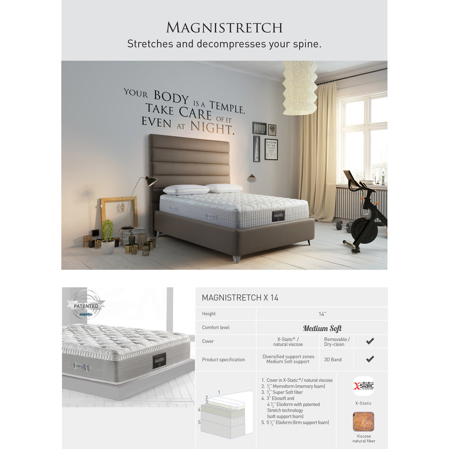 Magniflex Magnistretch X 14, Medium Soft Mattress - made in Italy