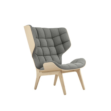 Norr11 Denmark, Mammoth Chair, Natural Oak, Light Grey Wool | Spencer Interiors