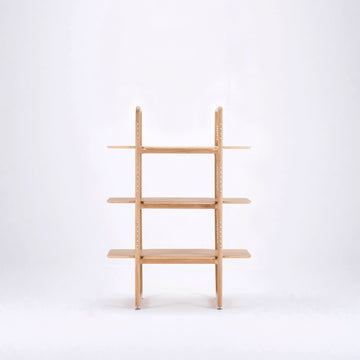 Gazzda Muse Room Divider & Shelf in solid Oak