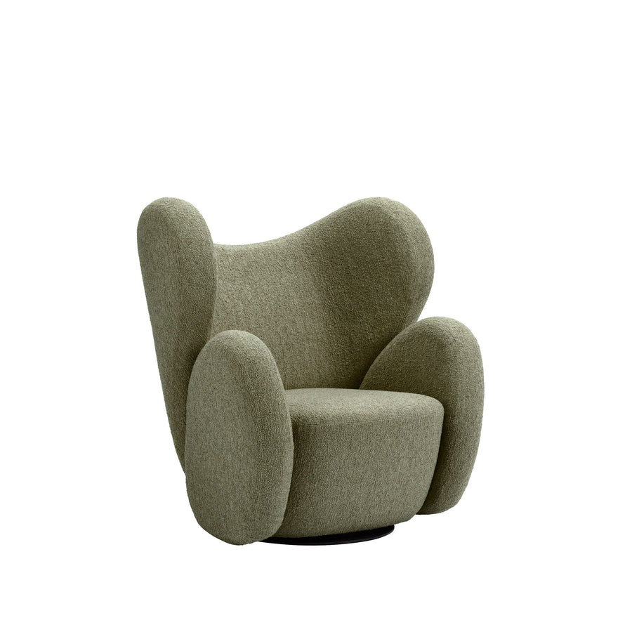 Norr11 Denmark, The Big Big Swivel Chair in Barnum Moss - Spencer Interiors