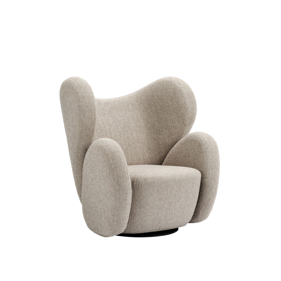 Norr11 Denmark, The Big Big Swivel Chair in Barnum Beige - Spencer Interiors