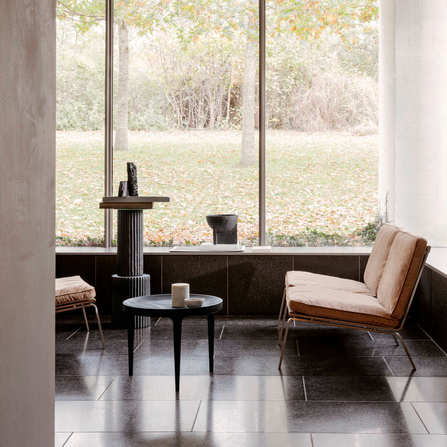 Norr11 Denmark, Ghost Table in Cast Aluminum, ambient with Man Chairs | Spencer Interiors
