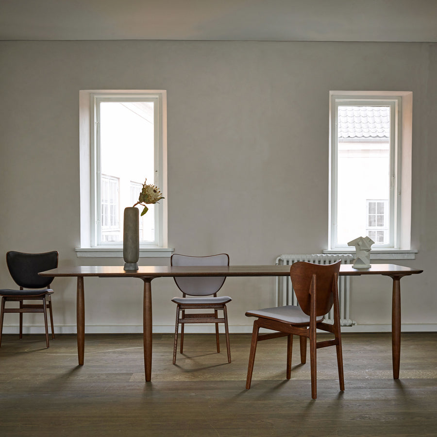 Norr11 Denmark, Oku Modern Dining Table in Dark Stained Oak, ambient  | Spencer Interiors