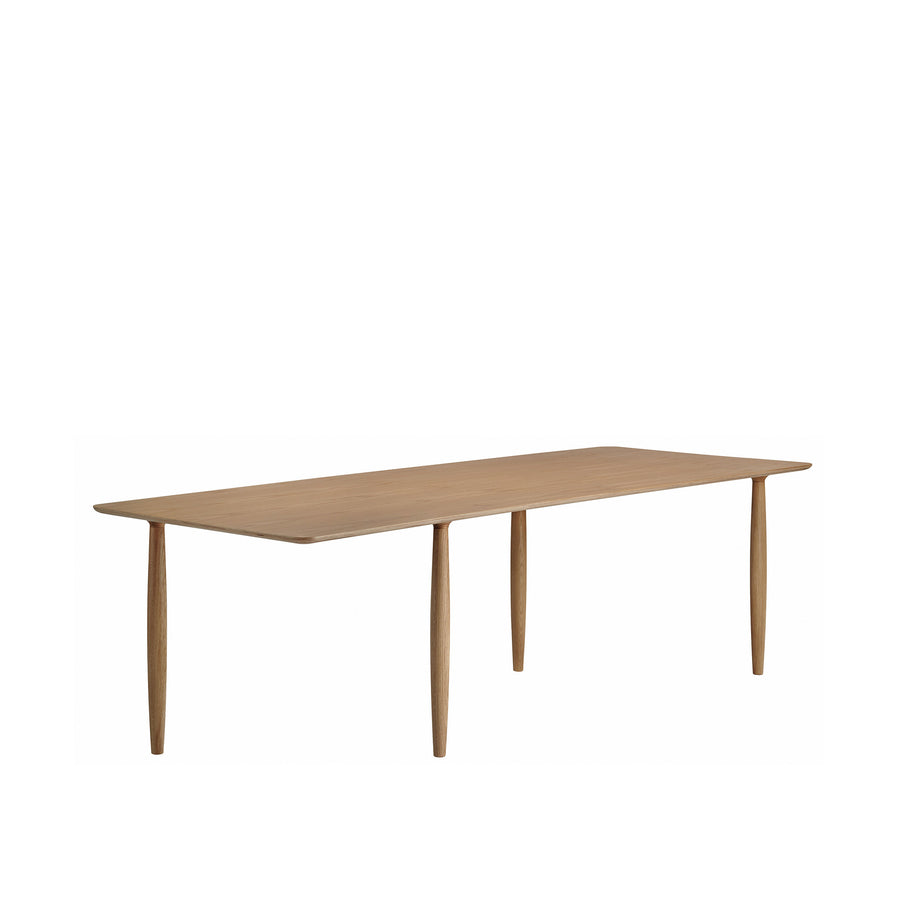 Norr11 Denmark, Oku Modern Dining Table in Smoked Oak, turned | Spencer Interiors