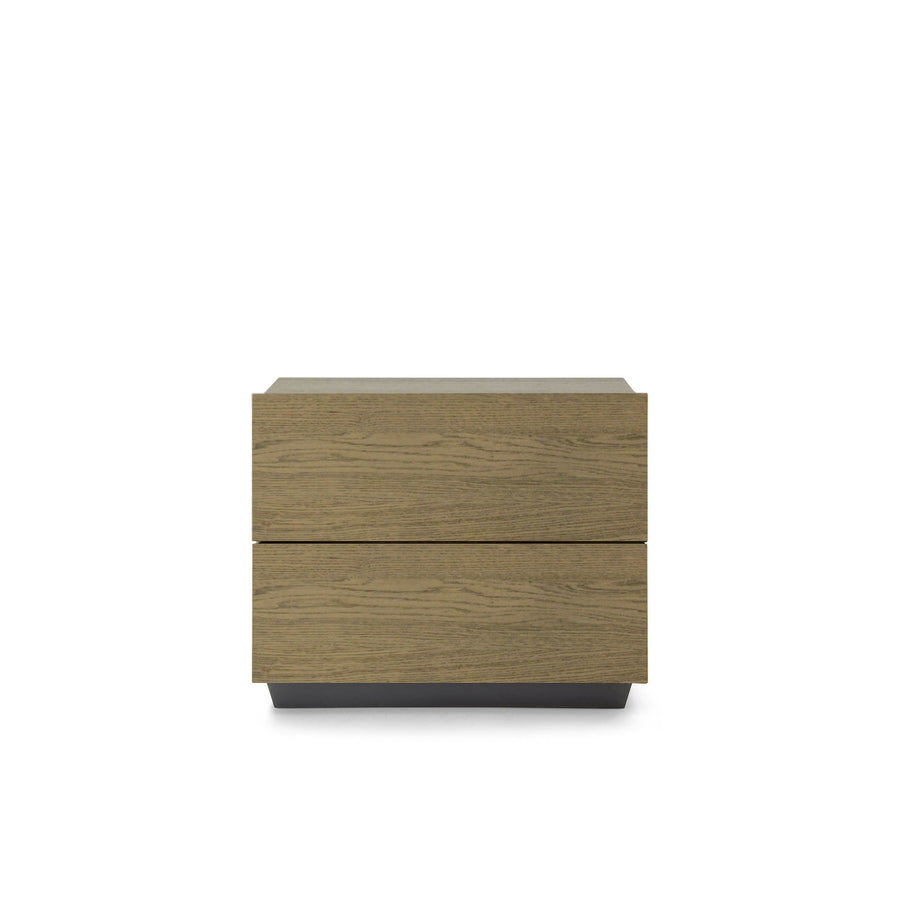 Pianca Tosca Nightstand in Laguna Oak, made in Italy | Spencer Interiors