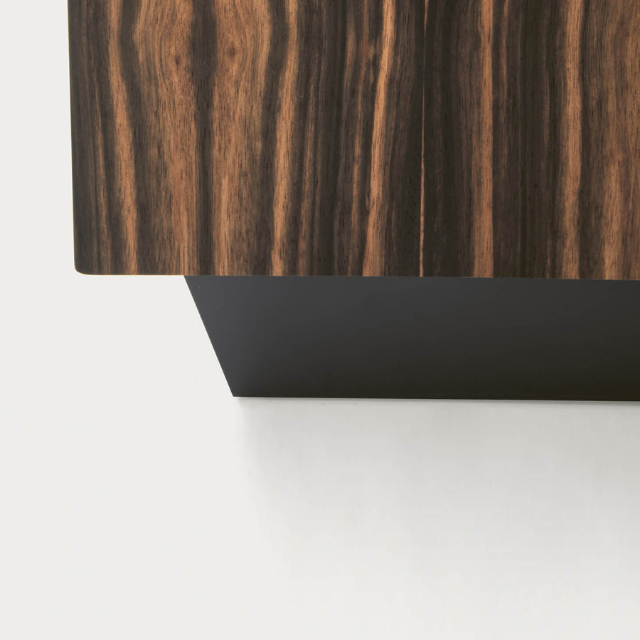 Pianca Tosca Nightstand, base detail, made in Italy | Spencer Interiors