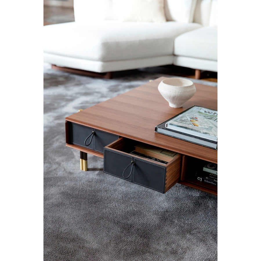 Porada Bayus Coffee Table with Drawers, detail