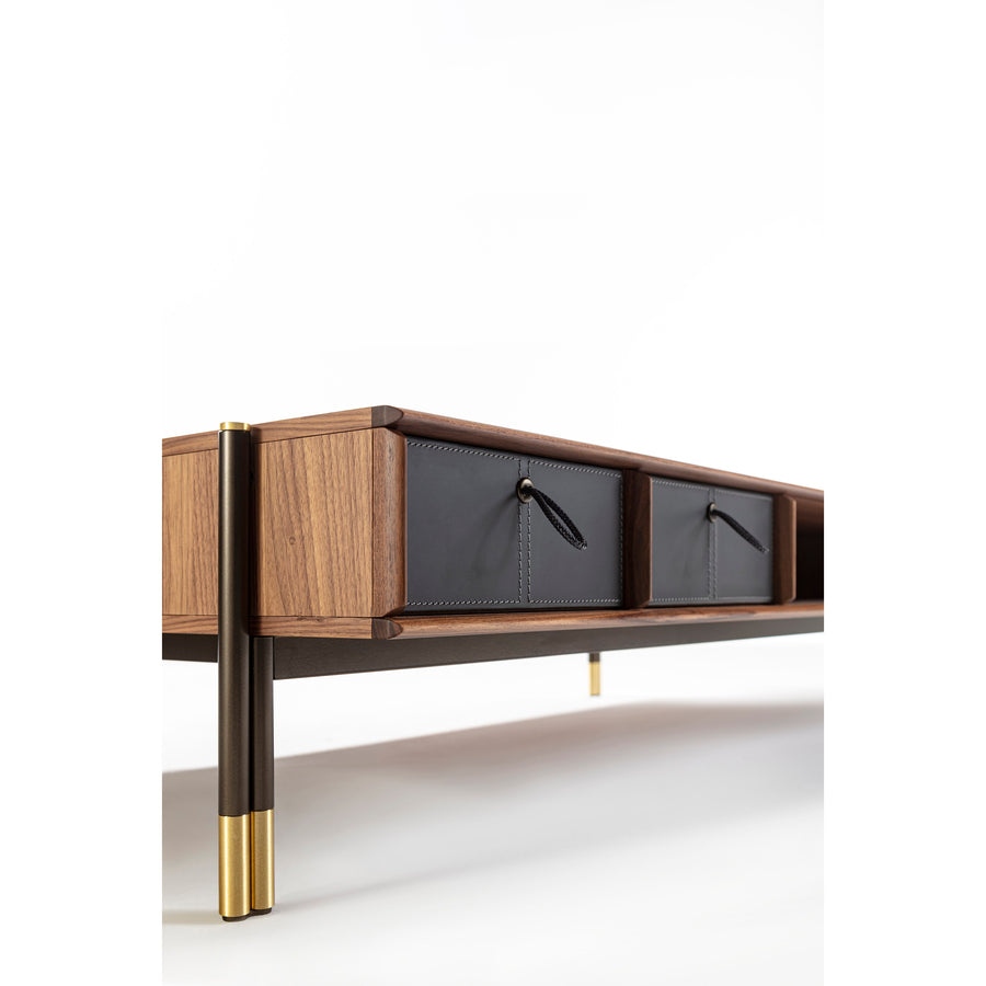 Porada Bayus Coffee Table with Drawers, corner detail