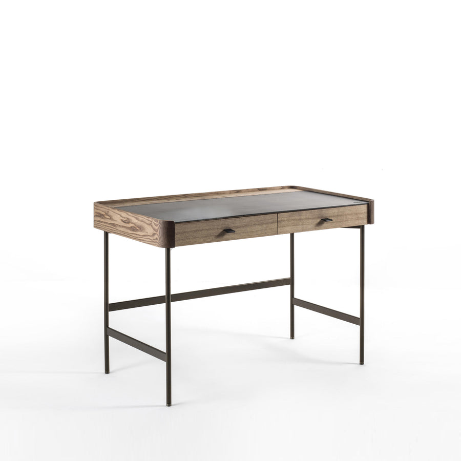 Porada Dafto Desk with Cuoietto leather Top