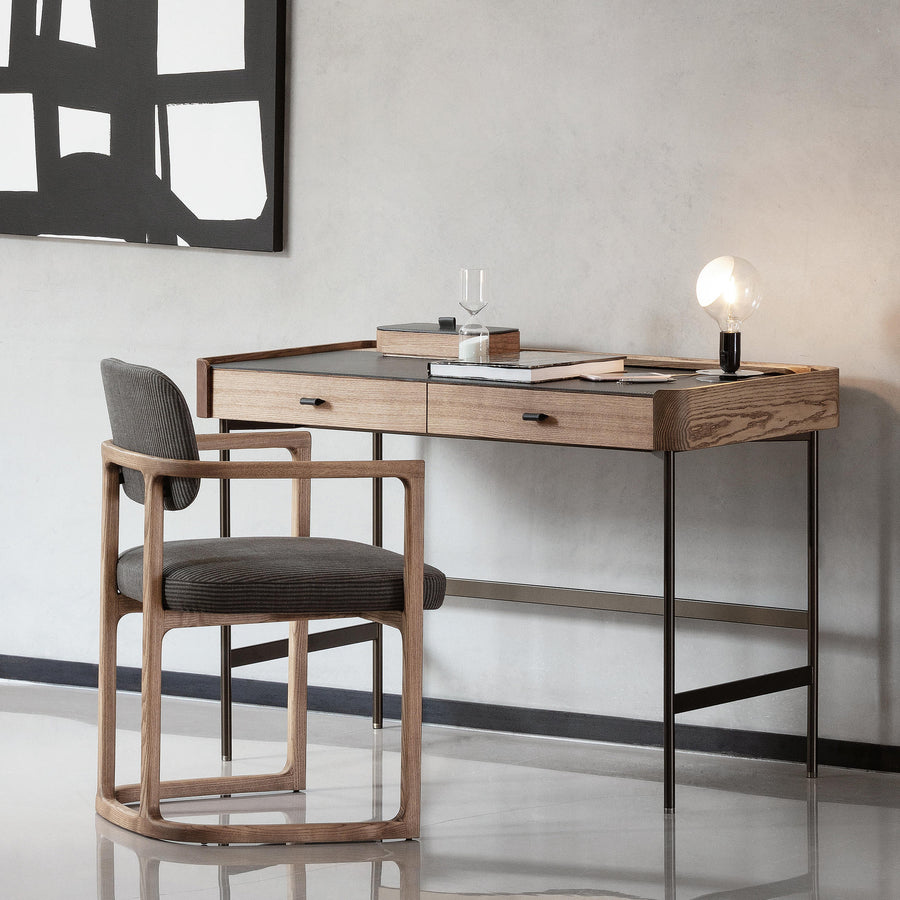 Porada Dafto Desk with Cuoietto leather Top, ambinet