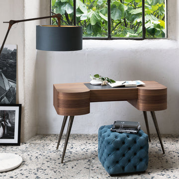 Porada Micol Desk in Canaletta Walnut