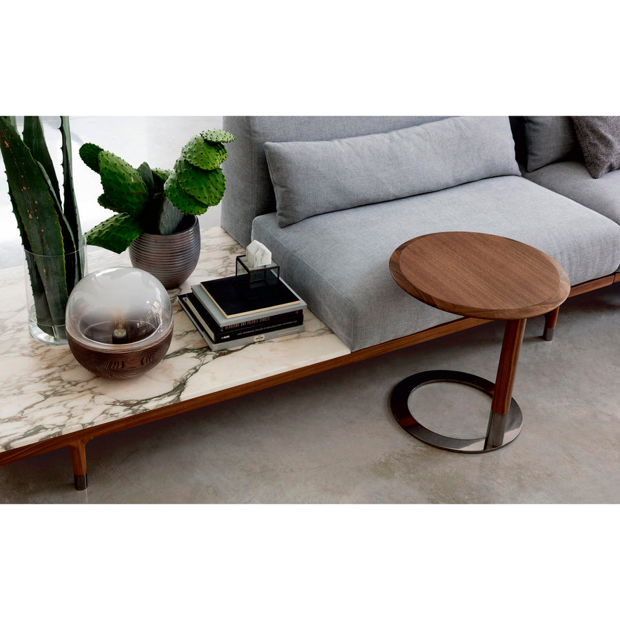 Porada Argo, Modern Seating System, Made in Italy, Marble Table detail | Spencer Interiors