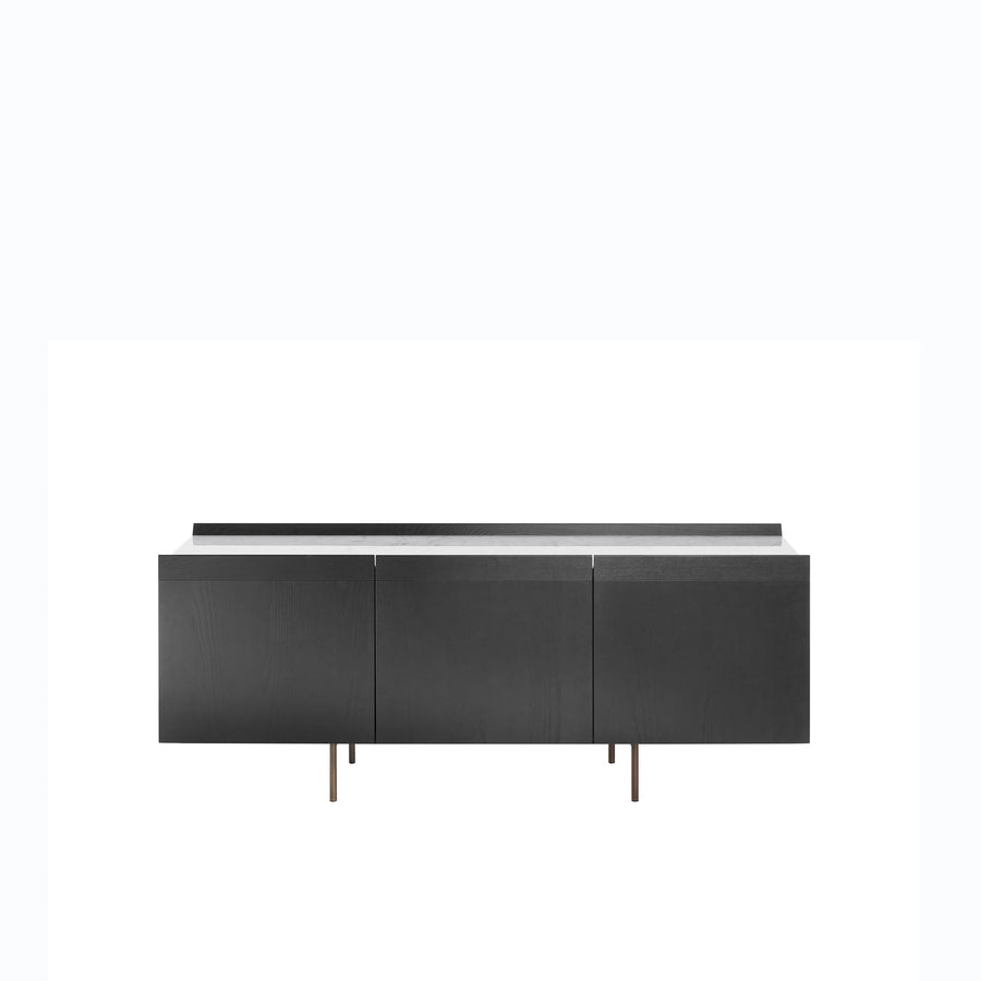 Potocco Avant 3 Door Sideboard with Marble Top - made in Italy
