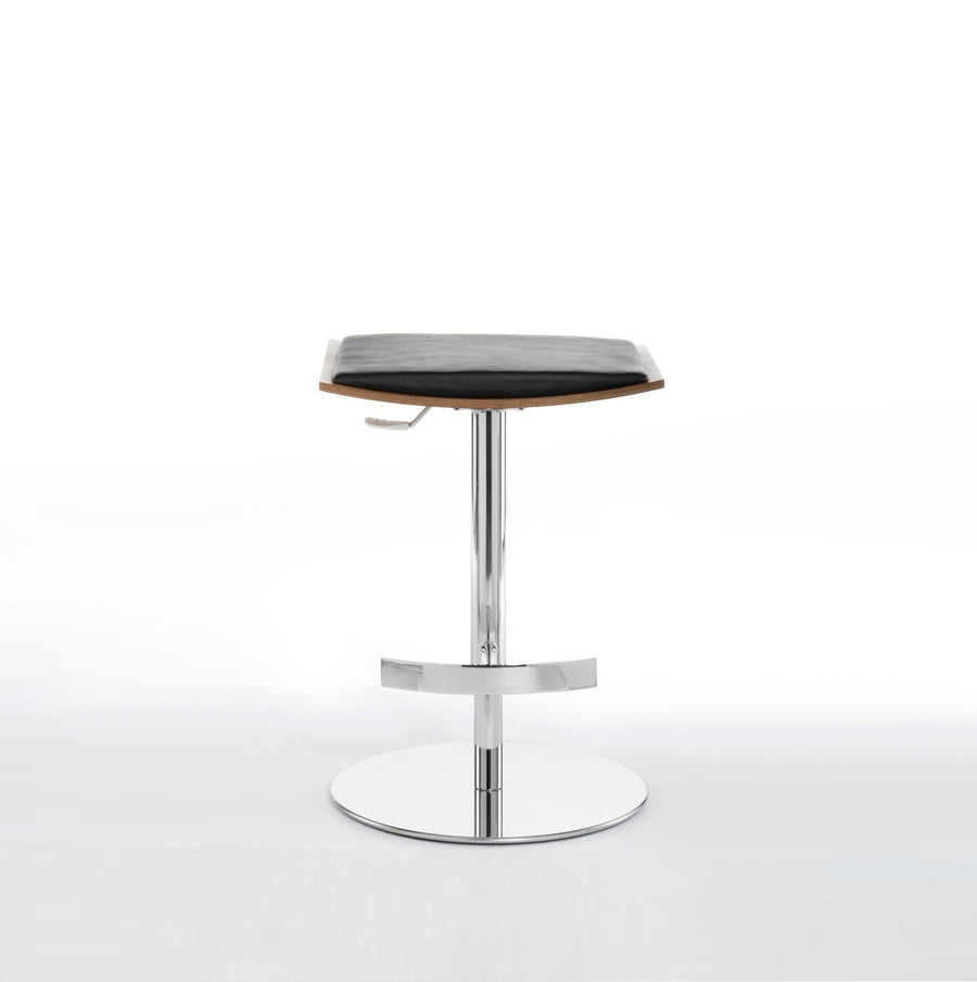 Potocco Bon Ton Stool in chrome - made in Italy | Spencer Interiors