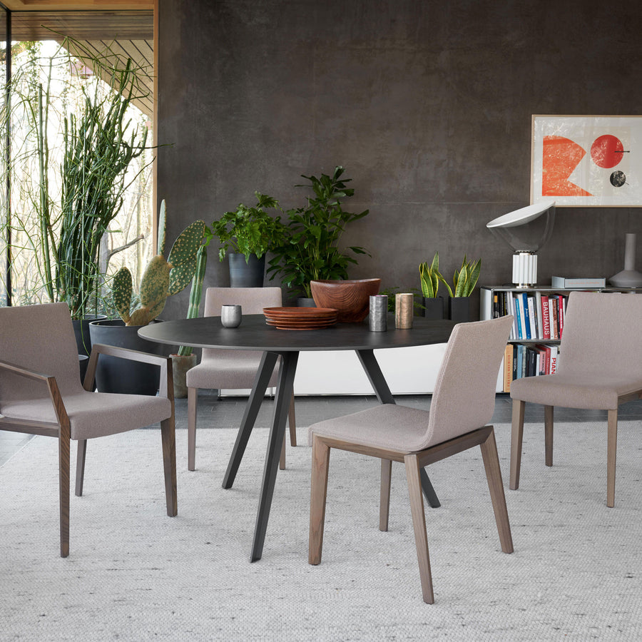 Potocco Katana Round Table with Marble Top ambient 2