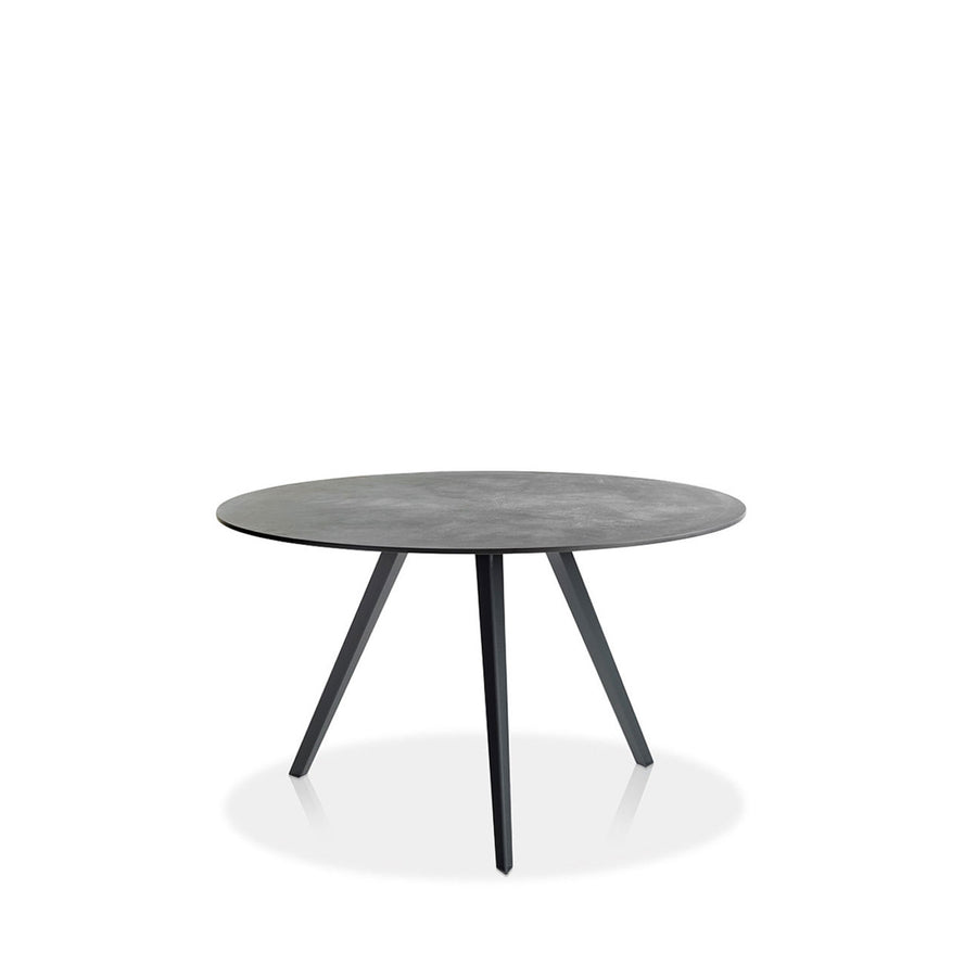 Potocco Katana Round Table with Marble Top - made in Italy