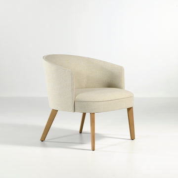 Potocco Lena Lounge Armchair in fabric Bold Panna | © Spencer Interiors