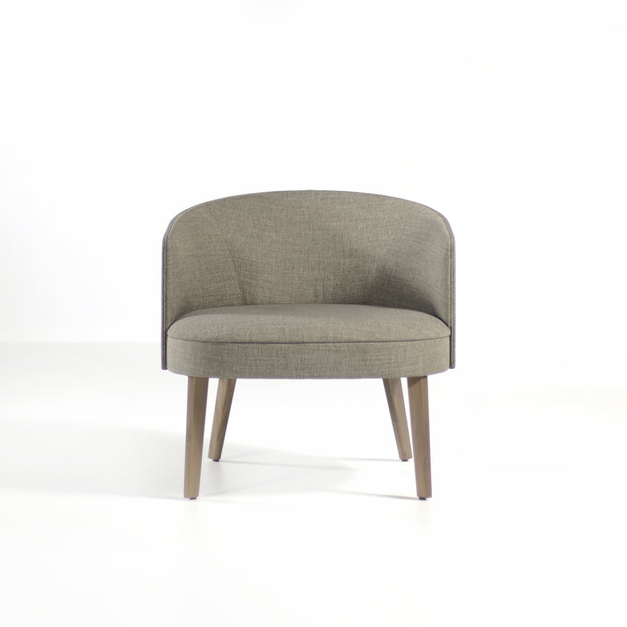 Potocco Lena Lounge Armchair in fabric Bold Grigio, front | © Spencer Interiors