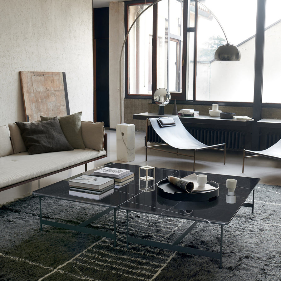 Potocco Little T Coffee Tables with Sahara Noir Marble Tops, ambient