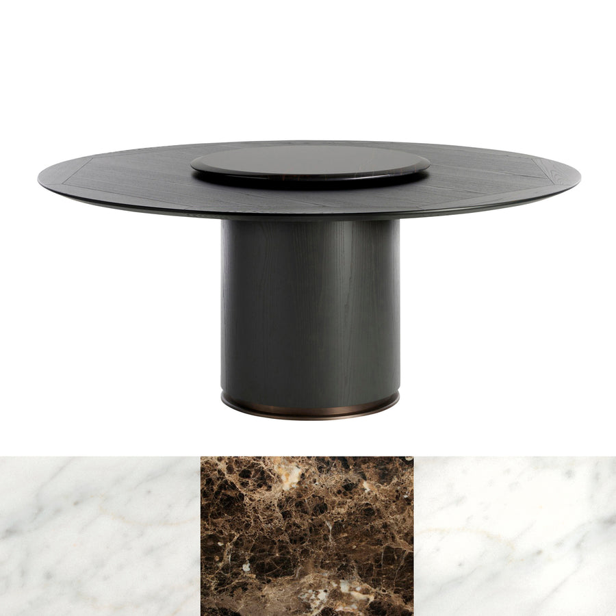 Potocco Lazy Susan in Marble - made in Italy | Spencer Interiors