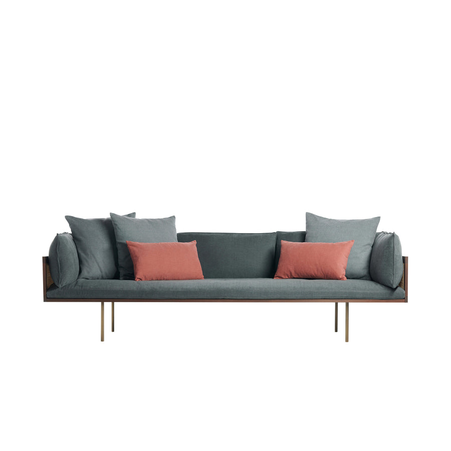 Potocco Loom Sofa with Natural Cane - Spencer Interiors