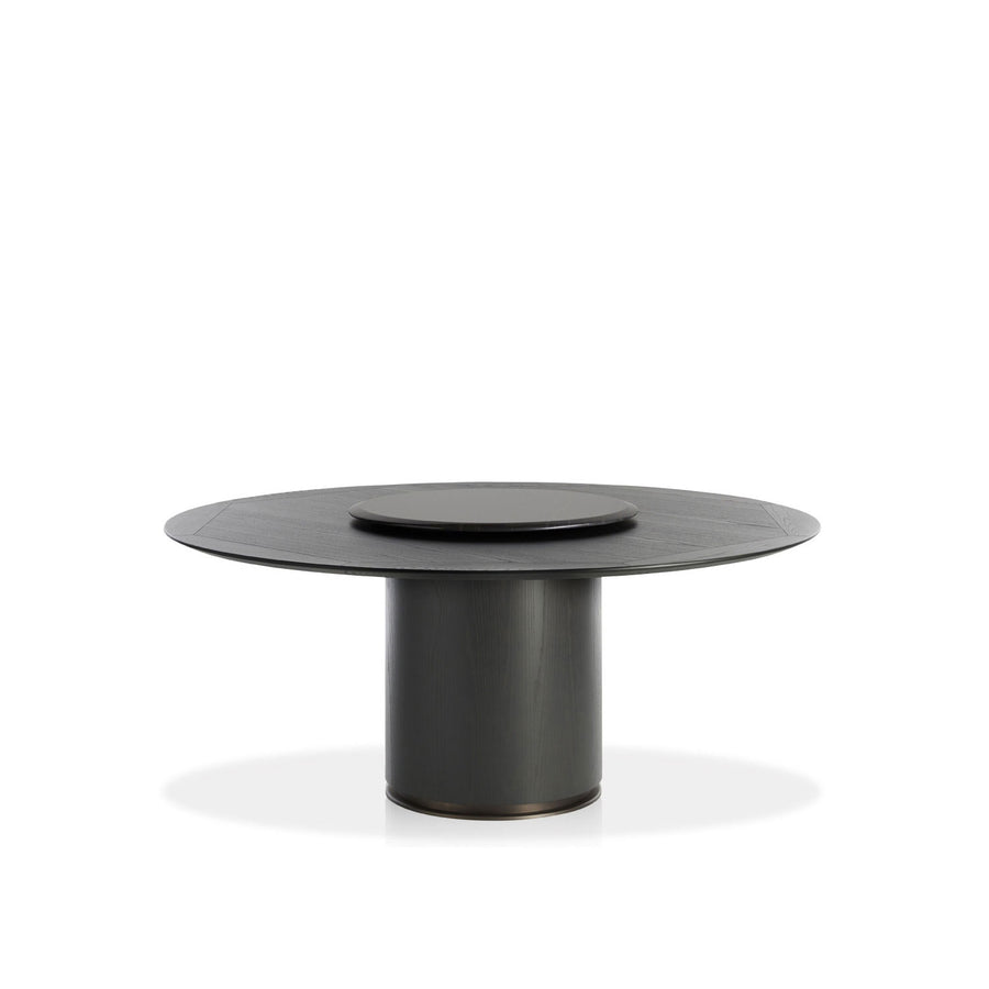 Potocco Otab Table with Lazy Susan in Marble