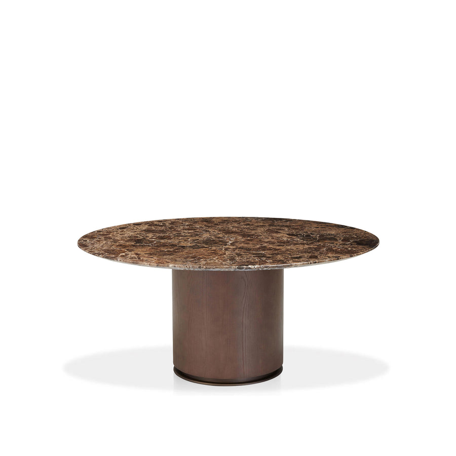 Potocco Otab Table with Emperador Marble Top - made in Italy | Spencer Interiors