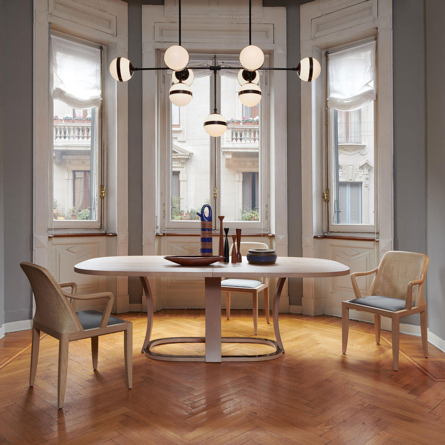 Potocco Grace Oval Extension Table in Ash | Spencer Interiors