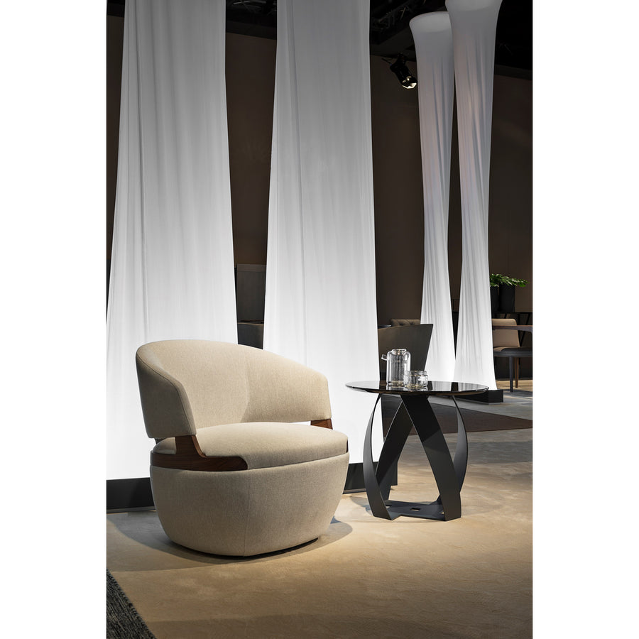 Potocco Velis Swivel Armchair 942/PLAG, ambient chic  | Spencer Interiors