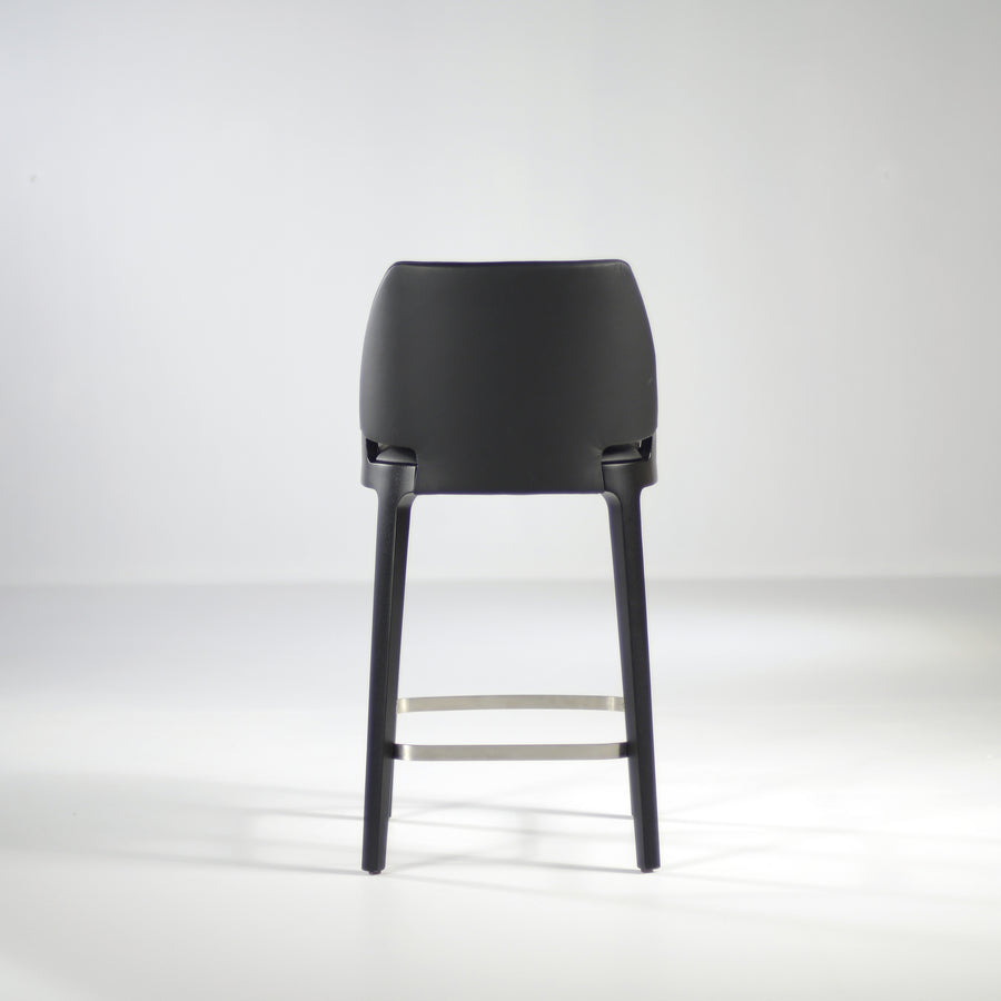 Potocco Velis Counter Stool in Carbon Stained Ash, back  | © Spencer Interiors