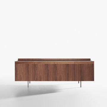 Potocco Avant 4 Door Sideboard with Marble Top - made in Italy