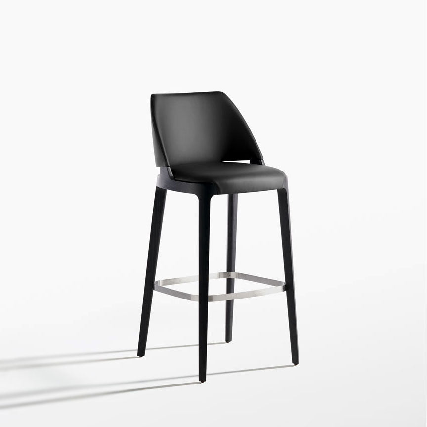 Potocco Velis Bar Stool , carbon black | Spencer Interiors