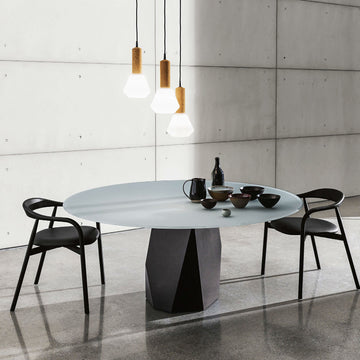 Sovet, Deod Round Glass Table, ambient