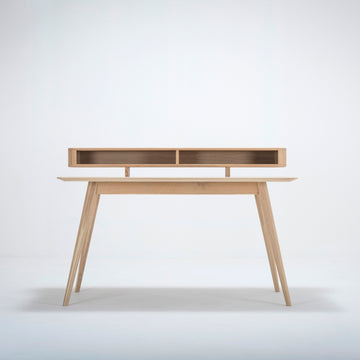 Gazzda Stafa Desk & Shelf In Solid Oak