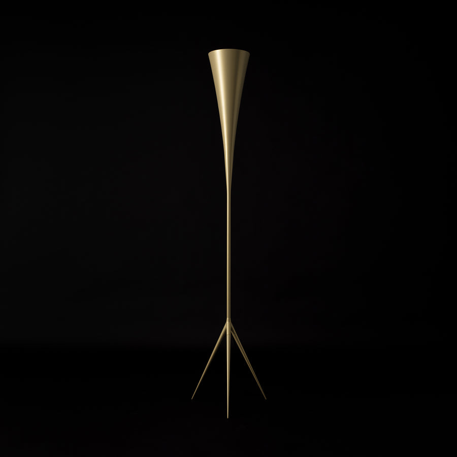 Tato Italia, De-Lux B8 Floor Lamp, Gold finish