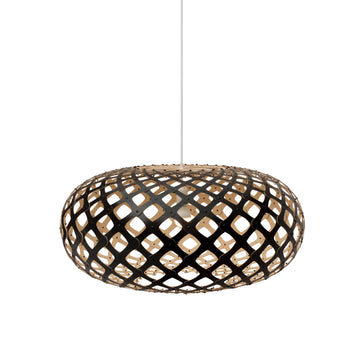 David Trubridge Kina Pendant, Black Outside - Spencer Interiors
