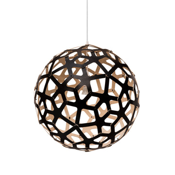 David Trubridge Coral Pendant, Natural, Black outside