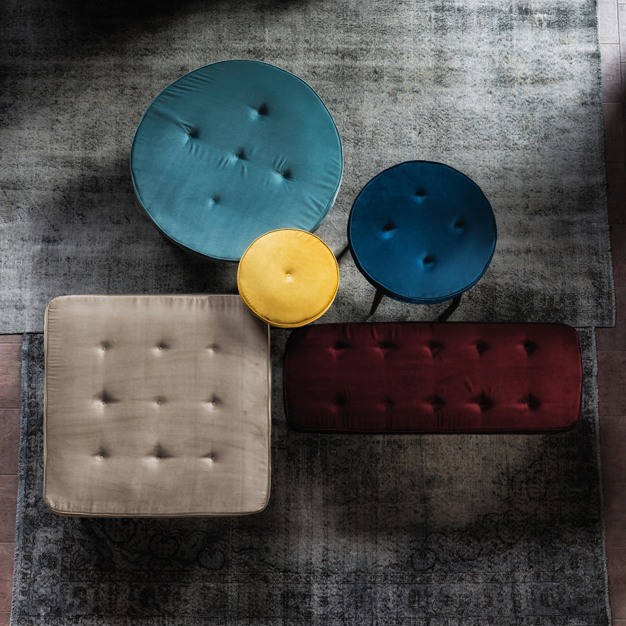 Vibieffe, Pancake Ottomans, top, made in Italy,