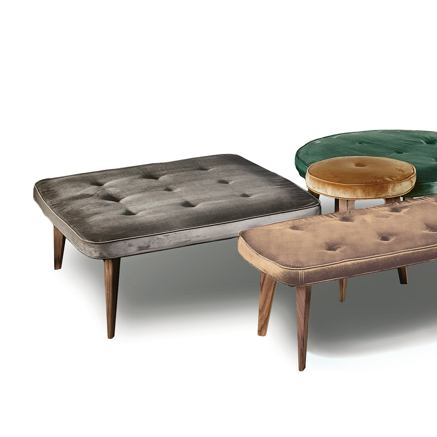 Vibieffe, Pancake Ottomans, grouping, made in Italy