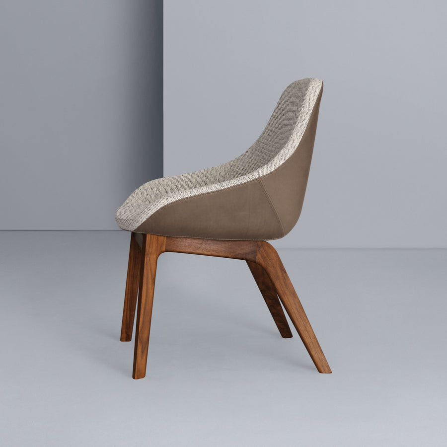 Zeitraum Morph Dining Chair, Walnut, profile