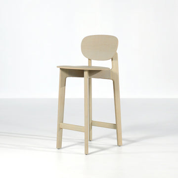 Zeitraum Zenso Stool in Stained Oak, © Spencer Interiors Inc.