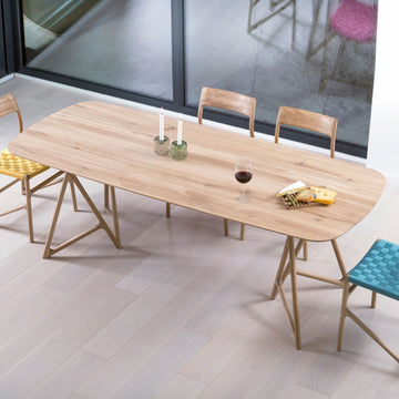 Gazzda Koza Table in solid whitened Oak - made in Europe
