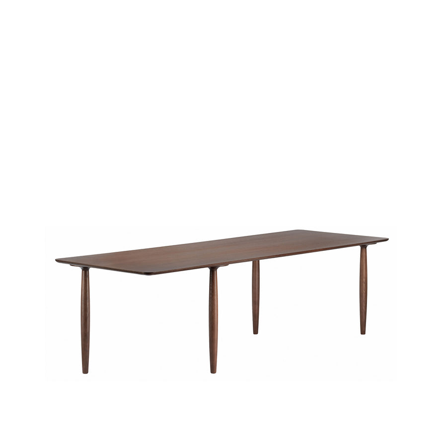 Norr11 Denmark, Oku Modern Dining Table in Dark Stained Oak, turned | Spencer Interiors