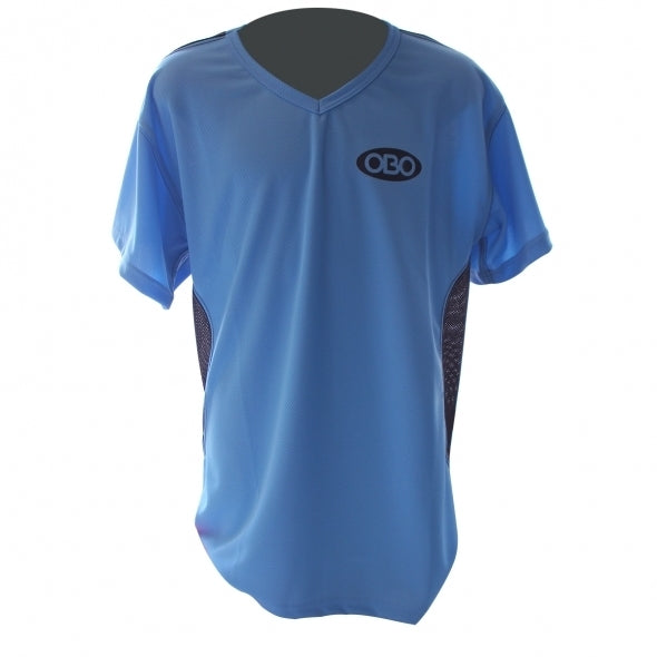 OBO SHORT SLEEVE TIGHT FIT SMOCK BLUE/BLACK