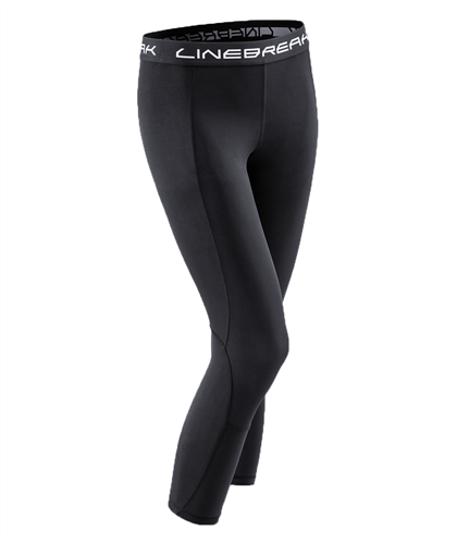 LINEBREAK WOMENS 7/8 COMPRESSION TIGHTS - BLACK
