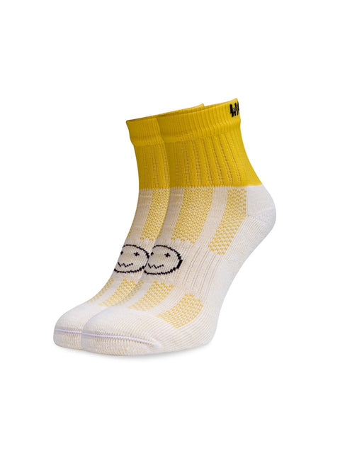 WACKY SOX ANKLE NEON YELLOW