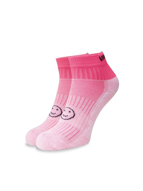 WACKY SOX ANKLE FLURO PINK