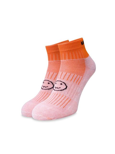 WACKY SOX ANKLE FLUORO ORANGE
