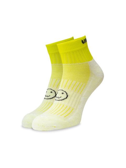 WACKY SOX ANKLE FLURO YELLOW